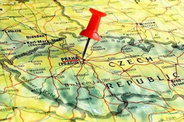 карта праги